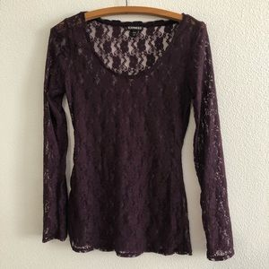 Express Long Sleeve Lace Blouse